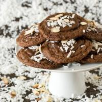 Almond Joy Chocolate Cookies Recipe {with Almond and Coconut}