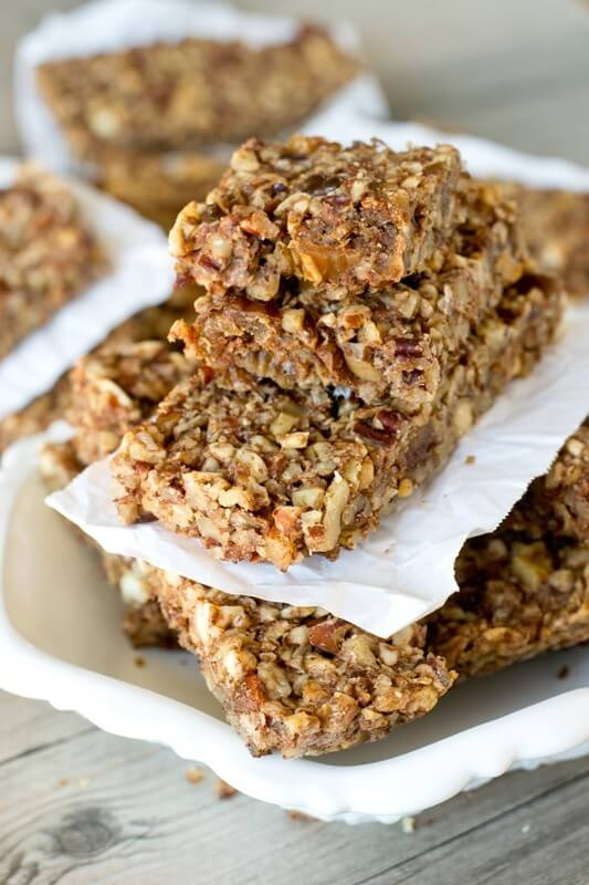 Paleo Nut Energy Bars {Healthy Snack Bar Recipe with Dates}