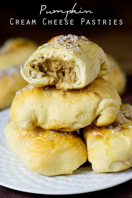 Make these Pumpkin Cream Cheese Pastries in under 30 minutes using Pillsbury biscuit dough. They're delicious with a cup of hot coffee!