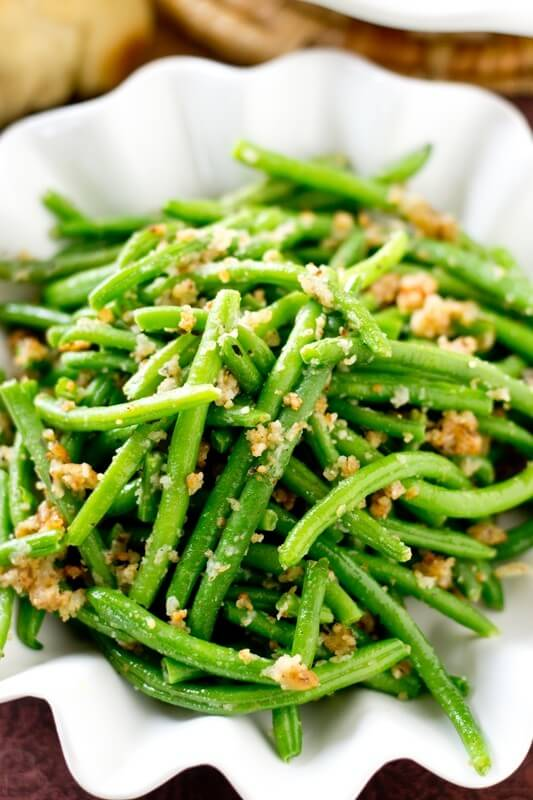 Italian Green Beans Recipe With Parmesan Cheese And Bread