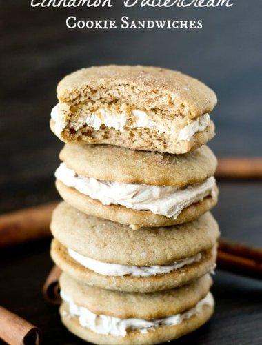 Cinnamon Buttercream Cookie Sandwiches