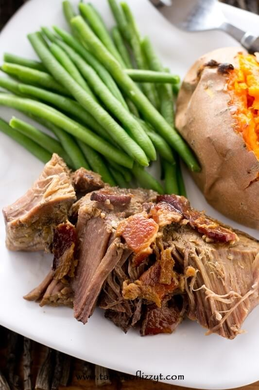 Garlic Bacon Pot Roast - Tastes of Lizzy T