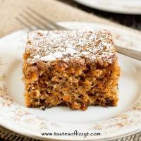 Carrot Walnut Cake - Tastes of Lizzy T