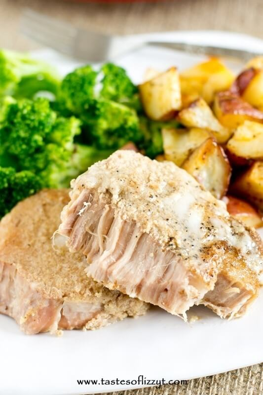 tender pork loin chops dinner