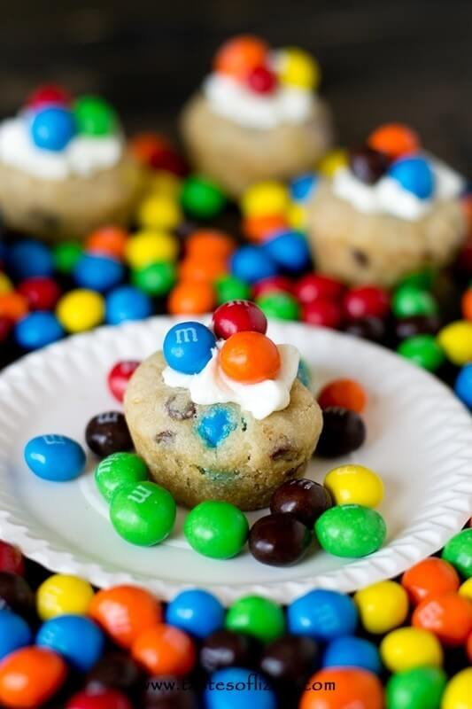 Crispy M&M Cookie Cups Recipe - Tastes of Lizzy T