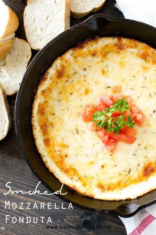 Smoked Mozzarella Fonduta Recipe - Tastes of Lizzy T