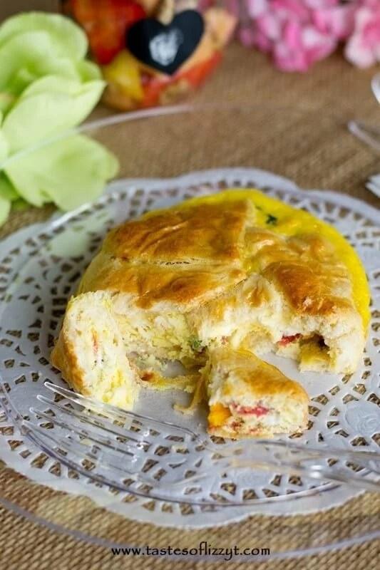 Roasted Tomato & Feta Egg Souffle - Tastes of Lizzy T