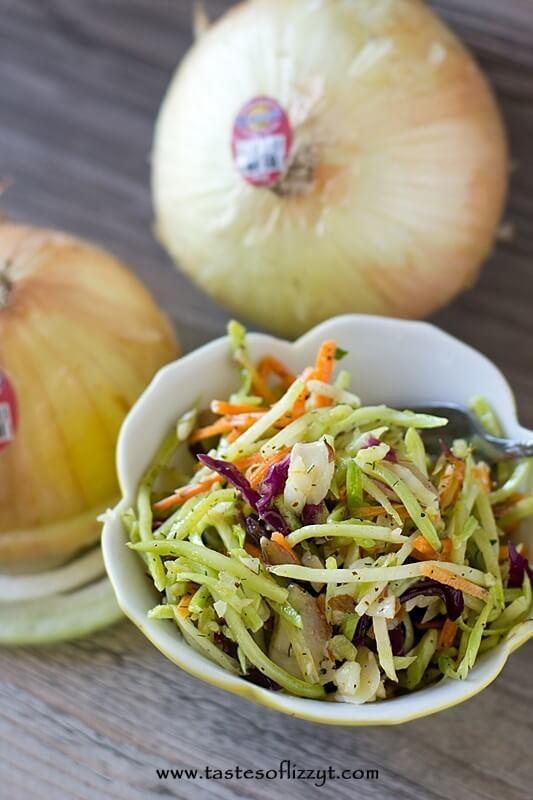 Paleo Broccoli Slaw Recipe - Tastes of Lizzy T