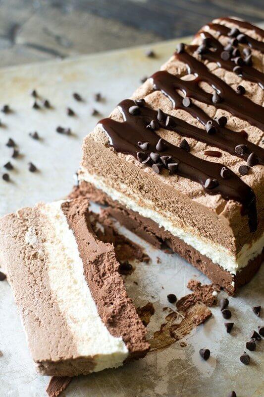Triple Chocolate Frozen Dessert Recipe - Tastes of Lizzy T
