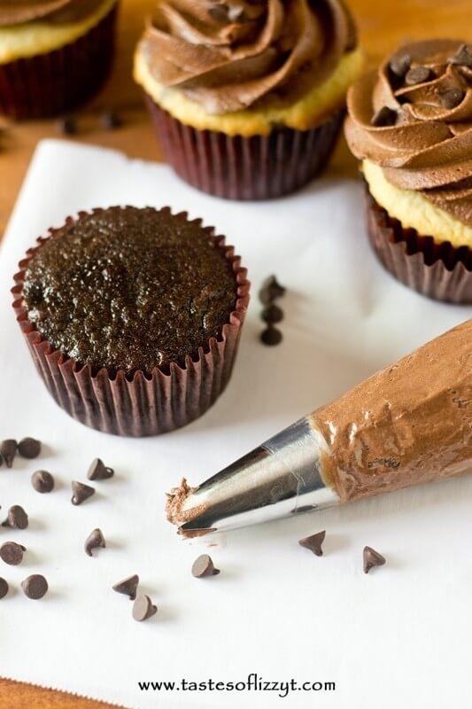 Dark Chocolate Buttercream Frosting Recipe - Tastes of Lizzy T