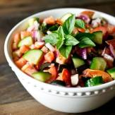 Use your garden tomatoes and cucumbers in this Paleo Antipasto Salad where fresh vegetables take center stage. Veggies are tossed in a simple, sugar free Italian marinade.