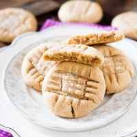 Criss Cross Soft Peanut Butter Cookies