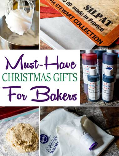 The top Christmas gifts for the home baker. You'll find some of my favorite, most useful and fun kitchen tools in all price ranges here!