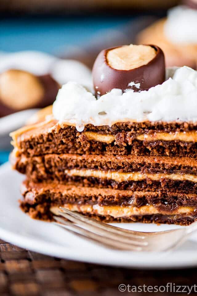 Chocolate Peanut Butter Pancakes Recipe {Buckeye Pancakes}
