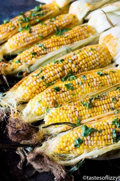 Oven Roasted Corn with Chili Butter