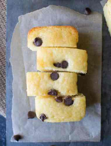 One-bowl mini orange chocolate chip quick bread, wonderful for holiday gifting!