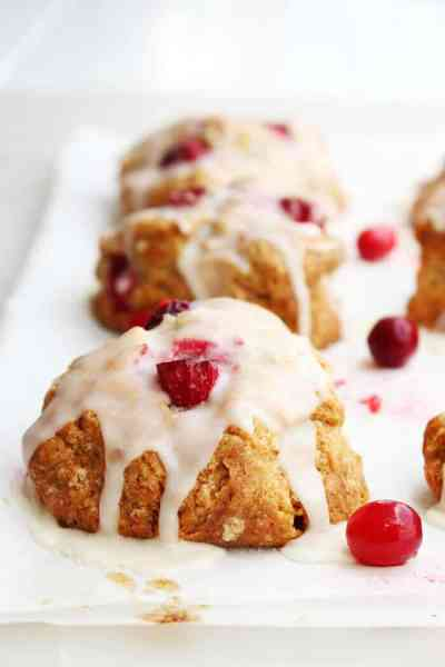Cranberry Scones with Chai Spice