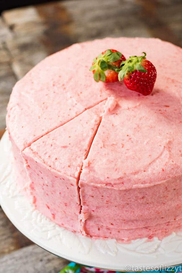 Homemade Strawberry Cake Recipe From Scratch W Fresh