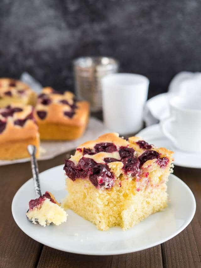 Easy Cherry Snack Cake