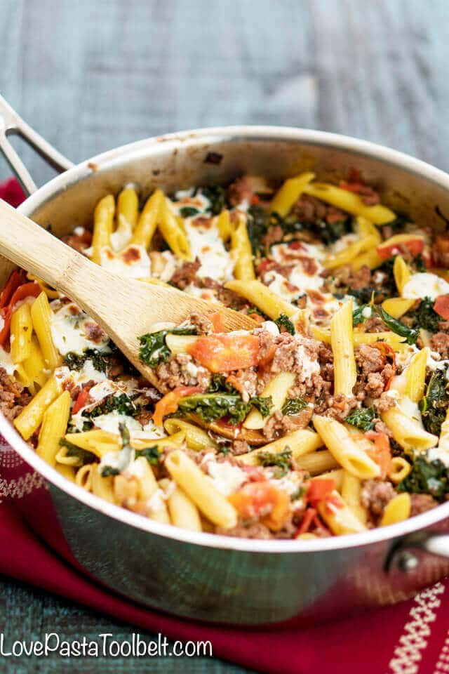 Kale Tomato Skillet Lasagna