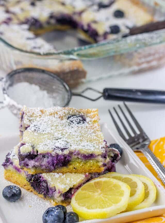Gooey Blueberry Lemon Butter Cake