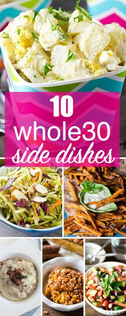 whole30 side dish recipes for the family (sweet potato fries and salads)