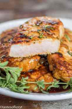 honey oregano baked grilled pork chops