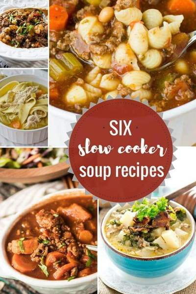 6 Comforting Slow Cooker Soup Recipes