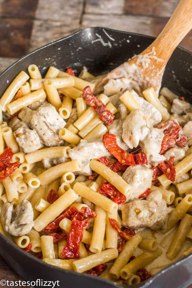 chicken alfredo skillet dinner