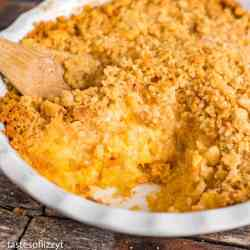 Pineapple Casserole Recipe with Cheese and Butter Crackers
