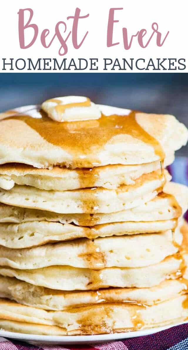 Try these easy Homemade Pancakes for a good, old-fashioned breakfast! Learn how to make fluffy pancakes that cook up soft and light.