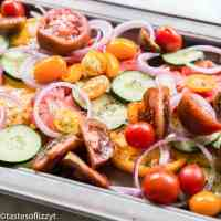 how to make cucumber tomato salad