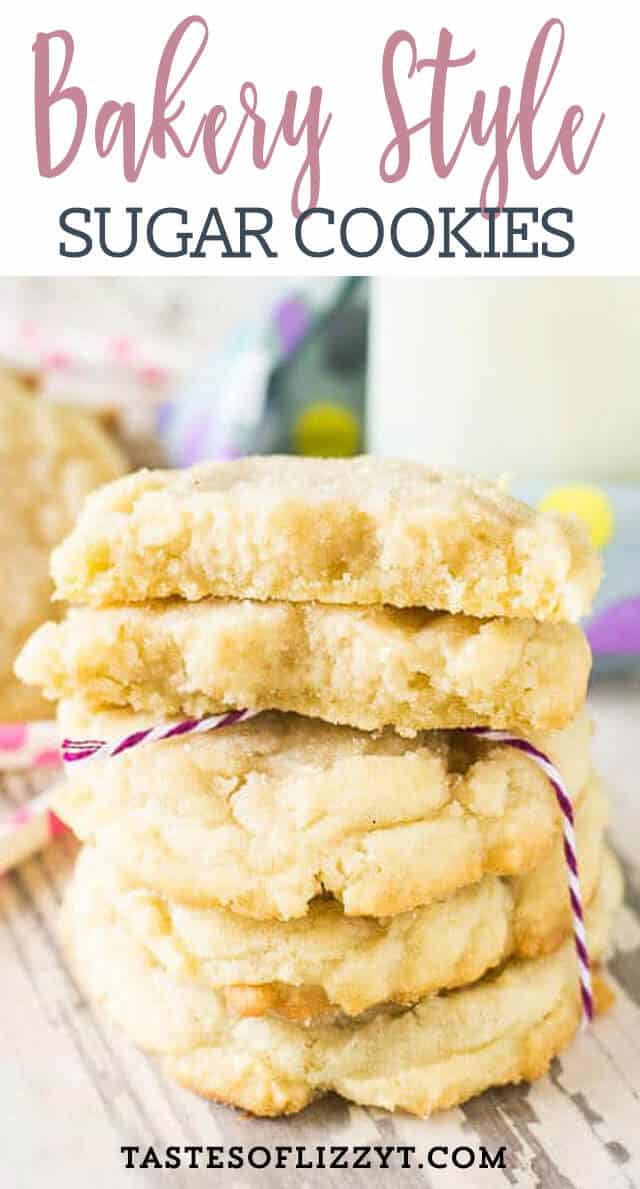Hints on how to get the thickest, softest, bakery style sugar cookies. It's the best sugar cookie recipe around!