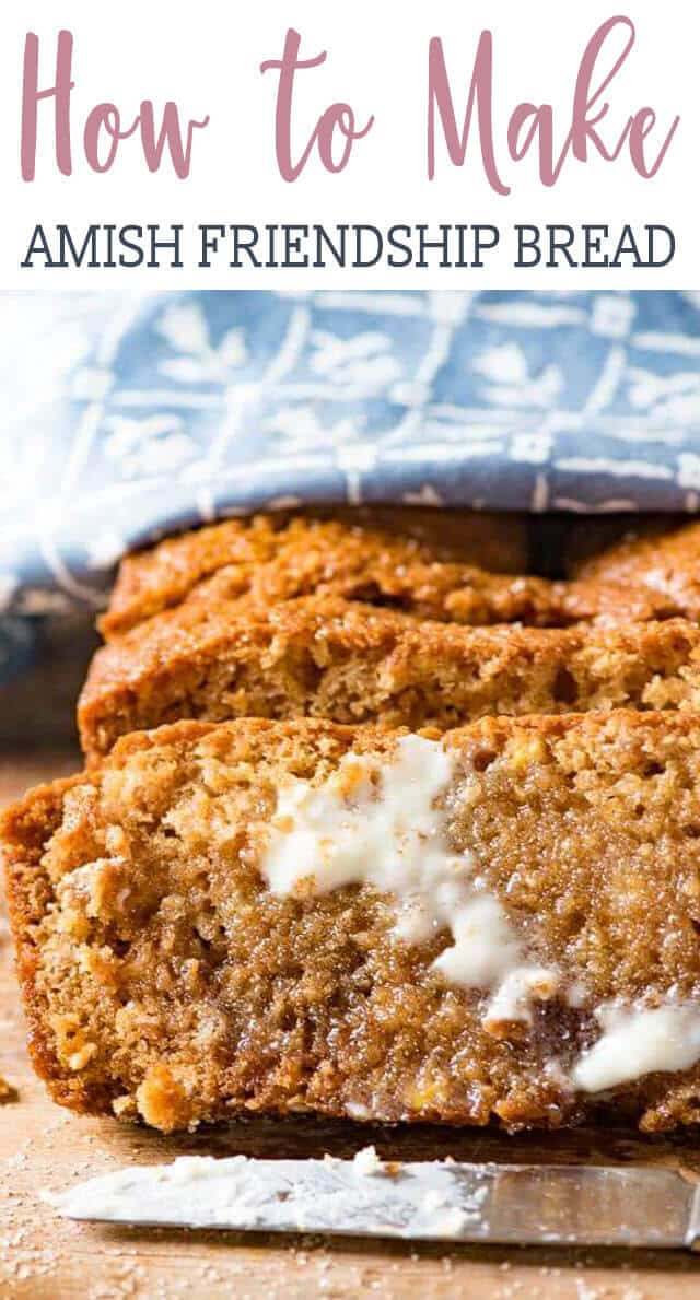 You can't resist a slice of this warm, cinnamon Amish Friendship Bread. This quick bread starts with a sweet sourdough and makes two loaves.