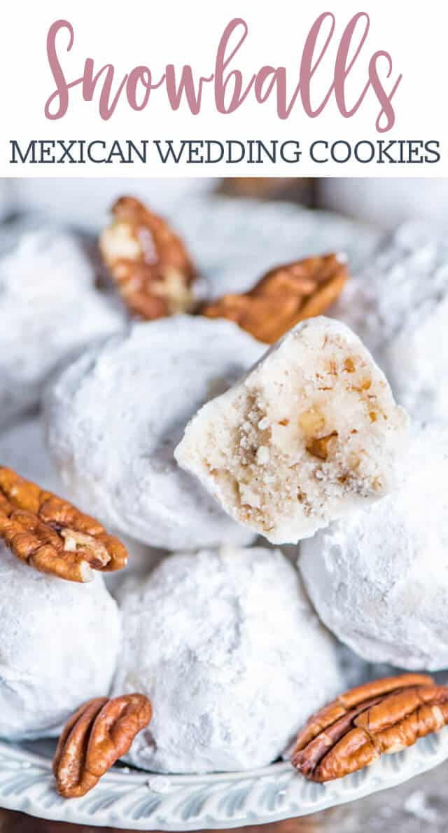 Soft, buttery pecan Mexican Wedding Cookies are a traditional cookie recipe idea for the holidays or for special occasions. The powdered sugar coating makes them look like snowballs!