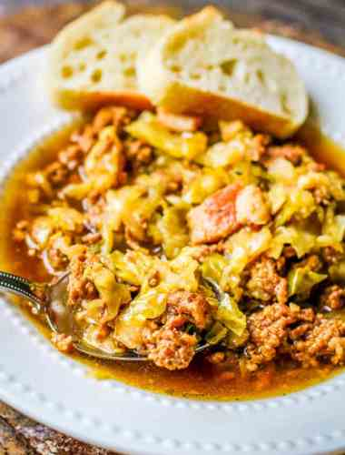 slow cooker sausage cabbage soup
