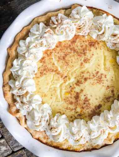 the best custard pie recipe with nutmeg