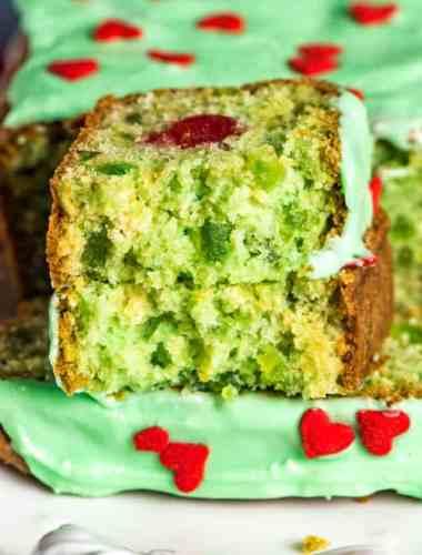 green cherry bread