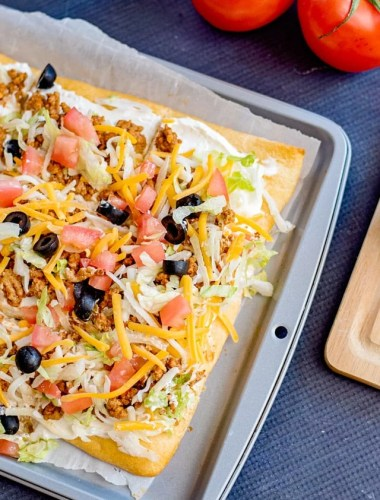 Taco Pizza Appetizer Recipe