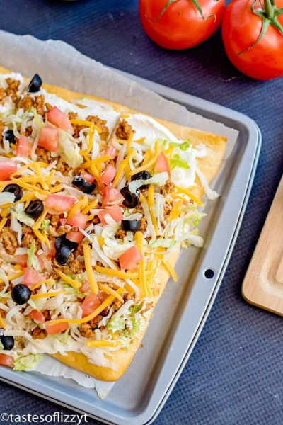 Taco Pizza Appetizer