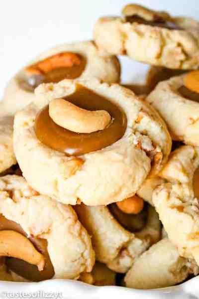 Cashew Thumbprint Cookies
