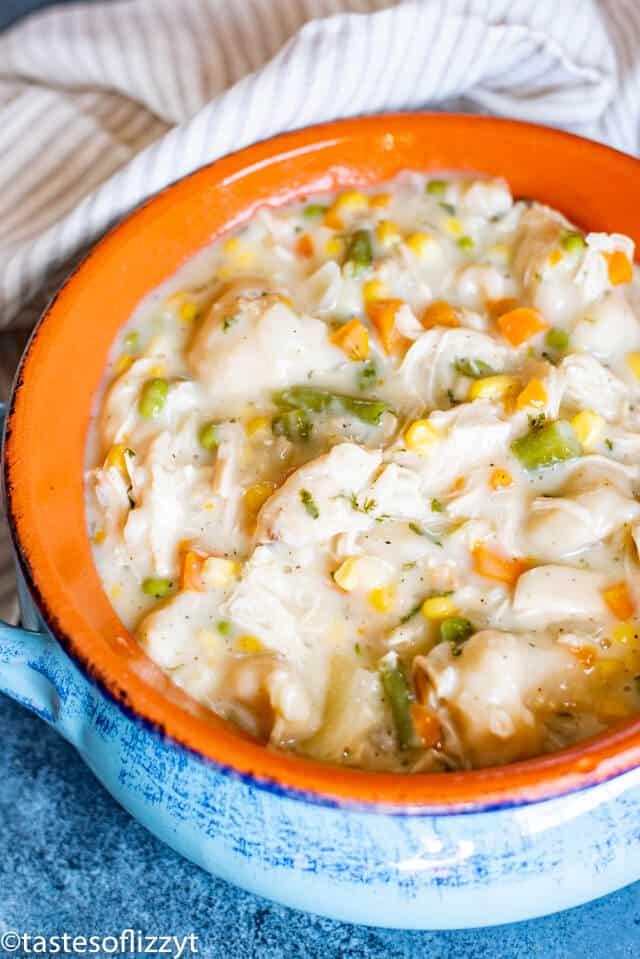 Chicken and Dumplings with frozen mixed veggies