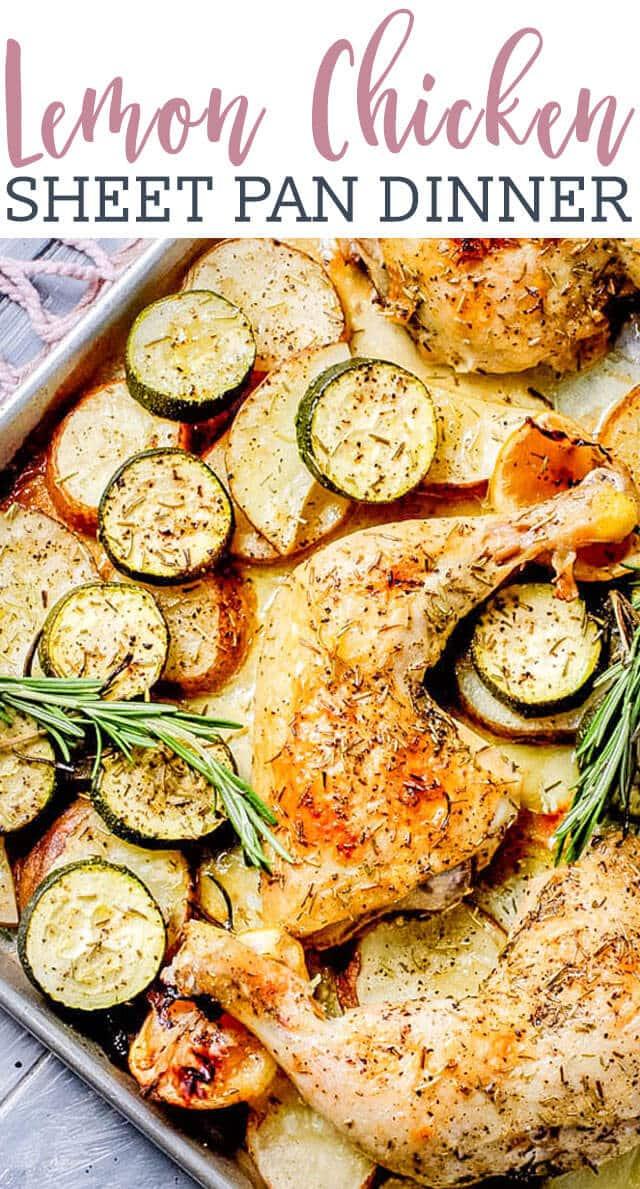 lemon chicken sheet pan dinner