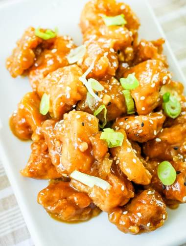 General Tso's Chicken Recipe on a plate