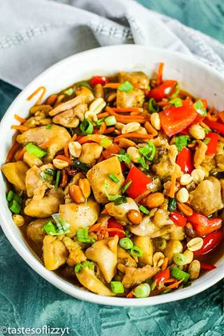 Kung Pao Chicken in a bowl