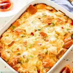 square image Leek Breakfast Strata Recipe