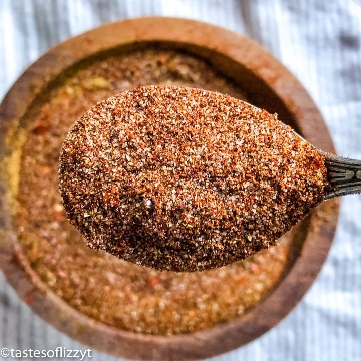 Homemade Taco Seasoning on a spoon