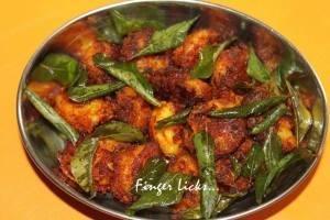 Kerala Style Prawns Dry Fry