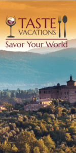 Taste Vacations Brochure Cover