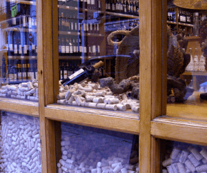 Wine corks in a wine shop - 5 myths about wine tours
